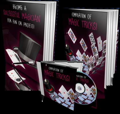 Product picture Magic Tricks Template with 2 PLR eBook & 1 Audio